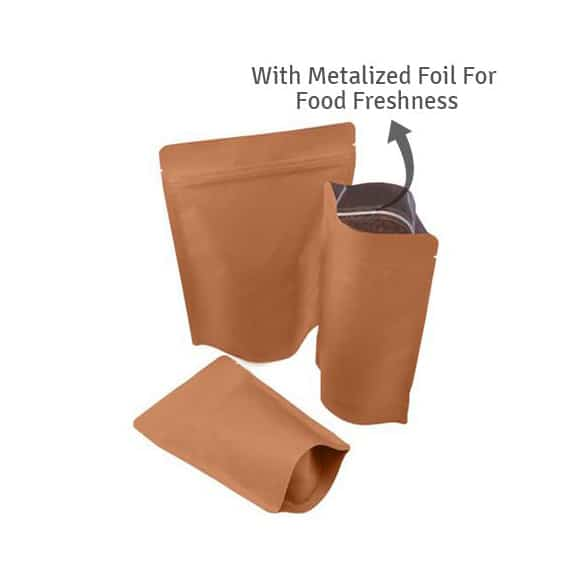 browen paper kraft paper stand up pouches 15 1