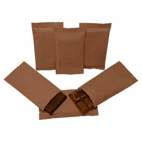 brown paper energy bar packaging