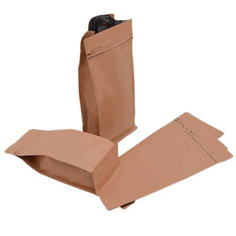 brown paper flat bottom bags valve