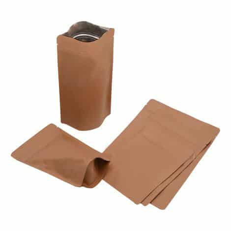 brown paper kraft paper stand up pouches 10