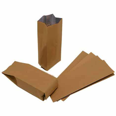 brown paper side gusset bags with valve