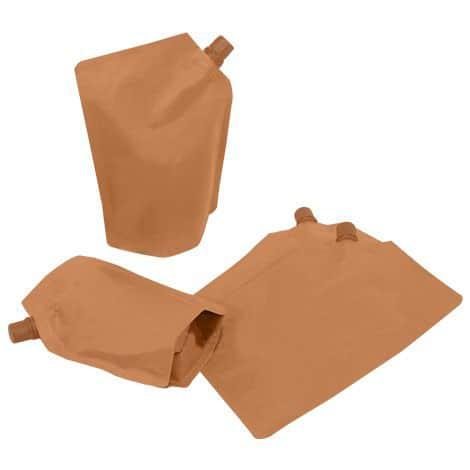 brown paper side spout
