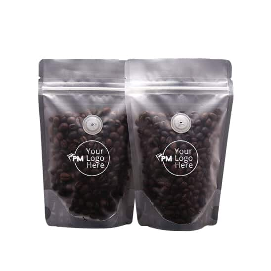 frosted stand up pouches with valve