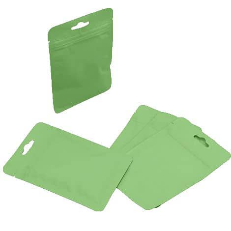 light green three seal bags with euro slot2 1