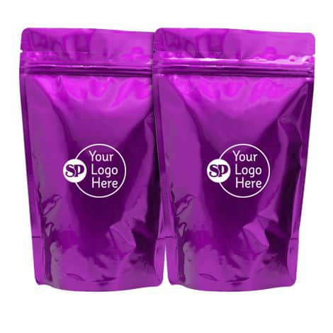 shiny purple foil supp