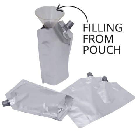 silver 10mm spout pouches center spout filling from spout 1