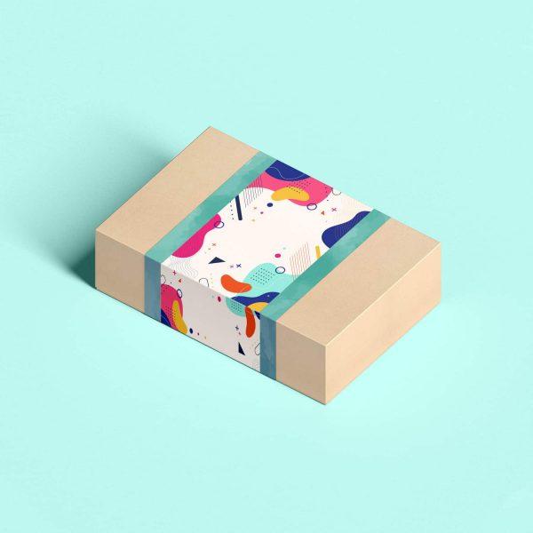 Free PSD Craft Paper Gift Box Mockup